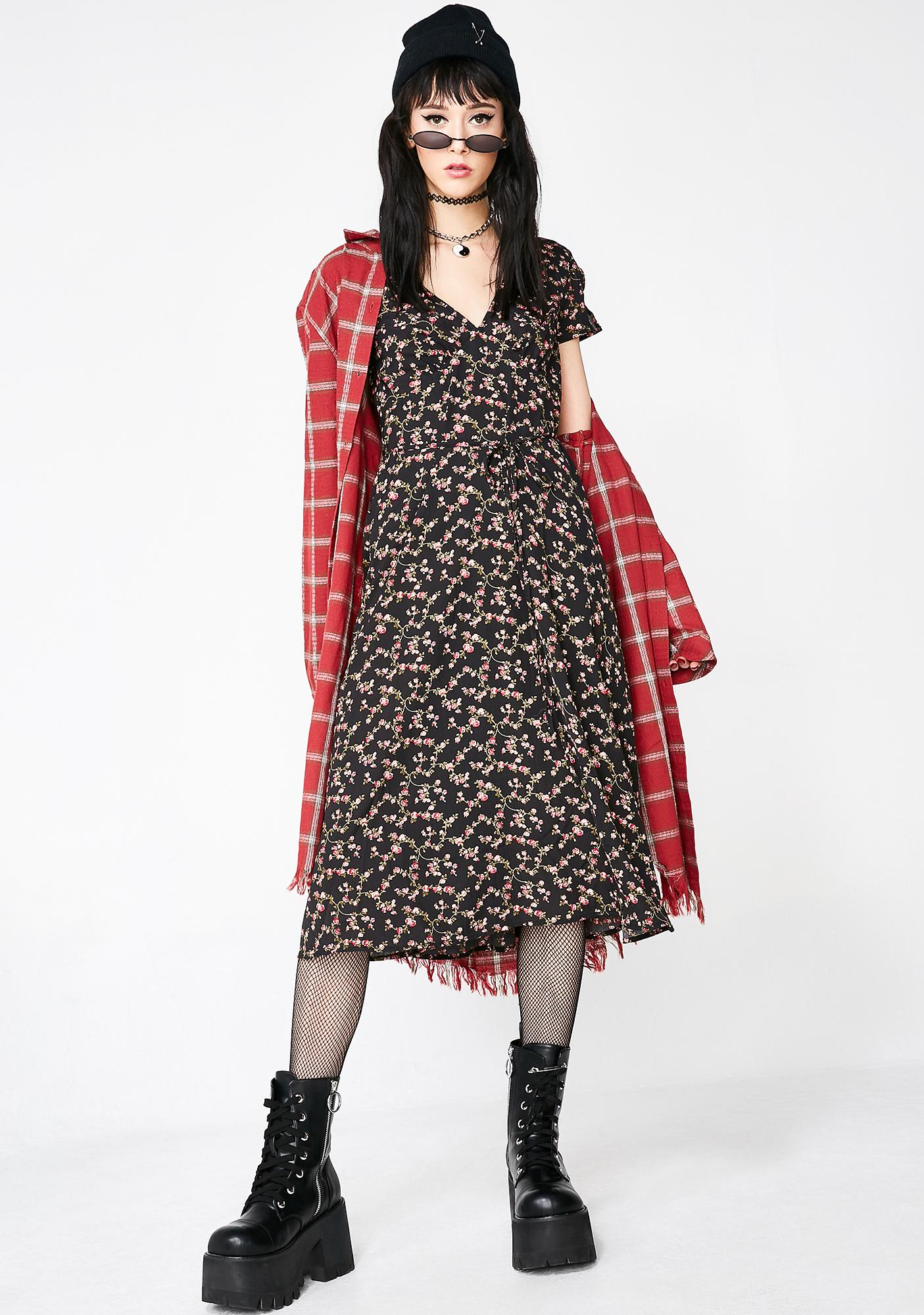 Cute N Angsty Floral Dress