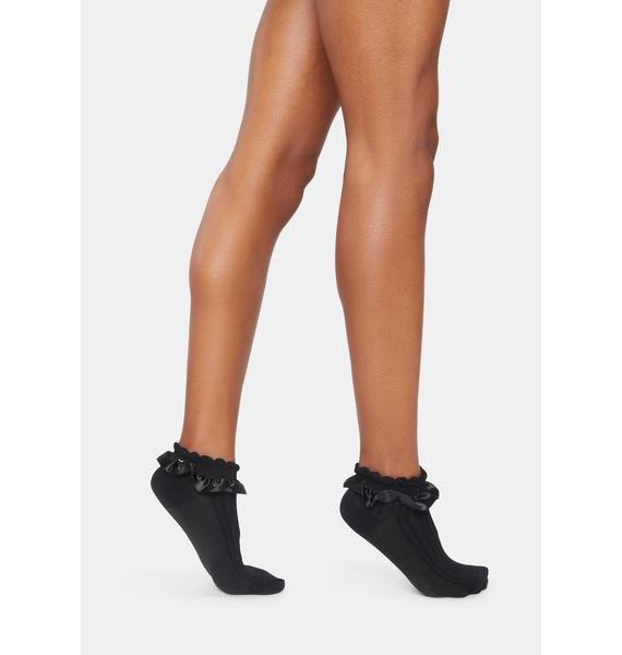 Satin Footsteps Ankle Socks