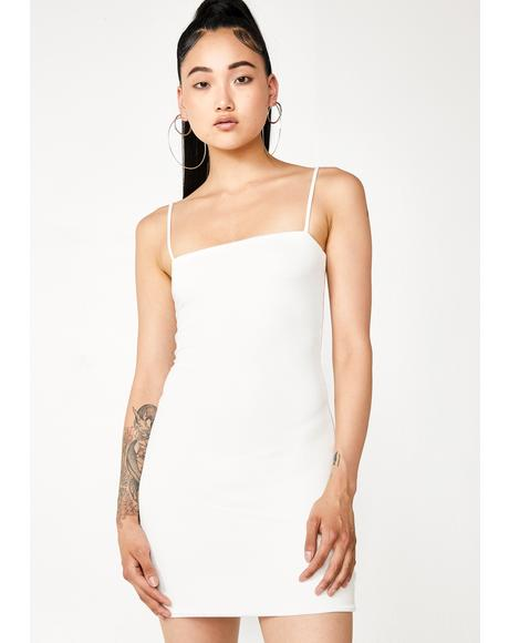 Blanc It Gurl Mini Tank Dress