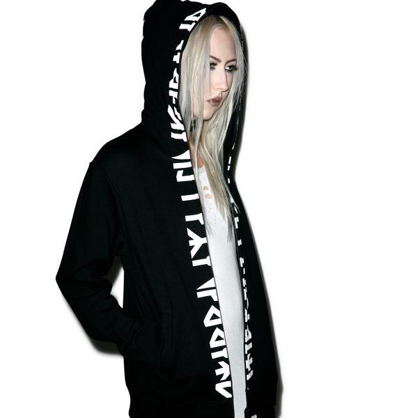 Long Clothing Runic Zip Up Hoodie