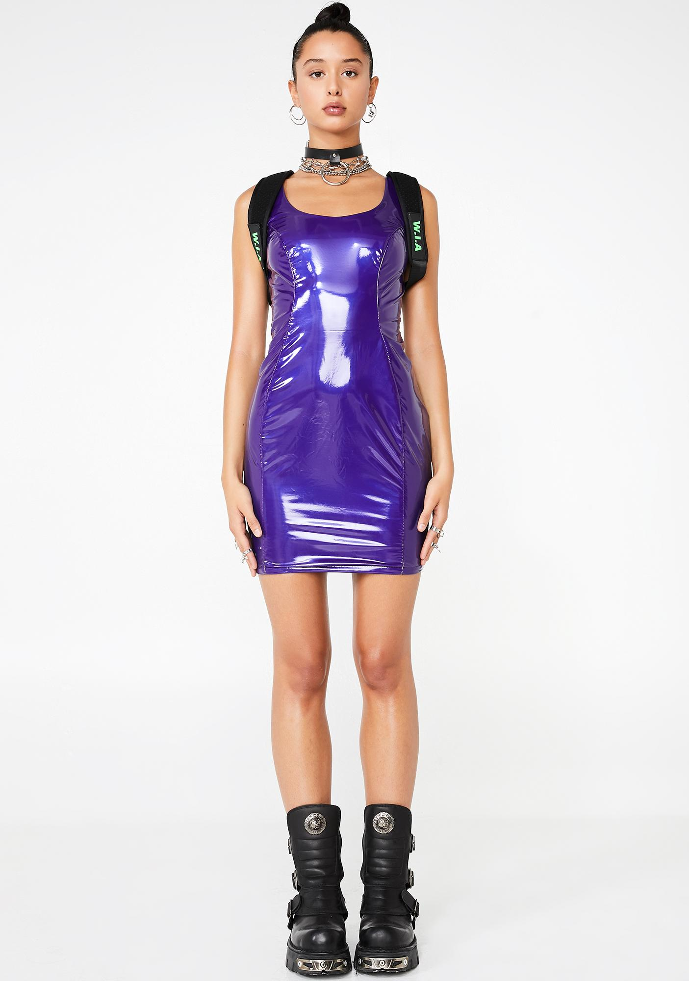 All The Attention Vinyl Dress