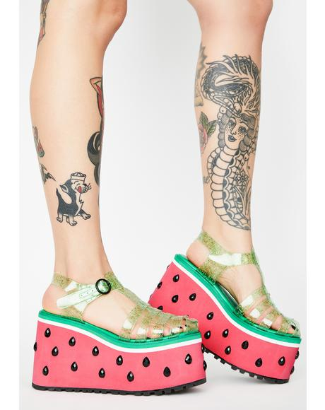 One In A Melon Platform Sandals