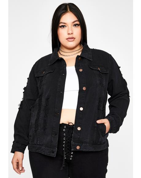 Sin I'm Put To The Test Denim Jacket