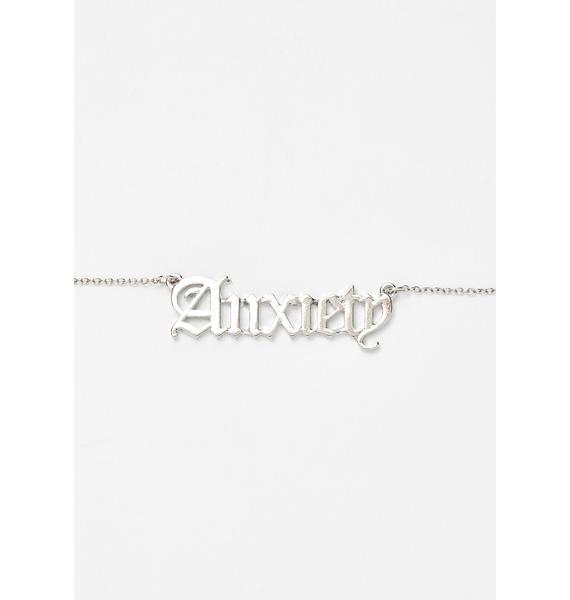 Anxious Aquarius Nameplate Necklace