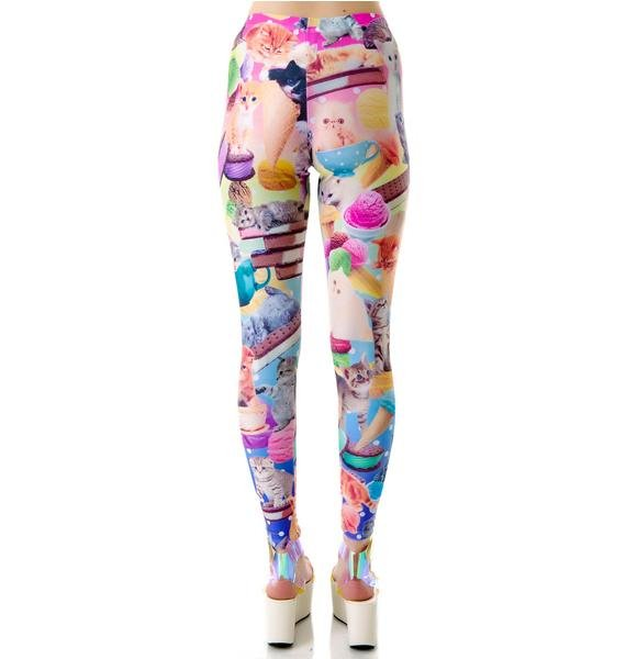 Japan L.A. Kittens and Ice Cream Leggings