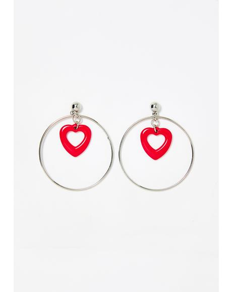 Pure Adoration Heart Earrings