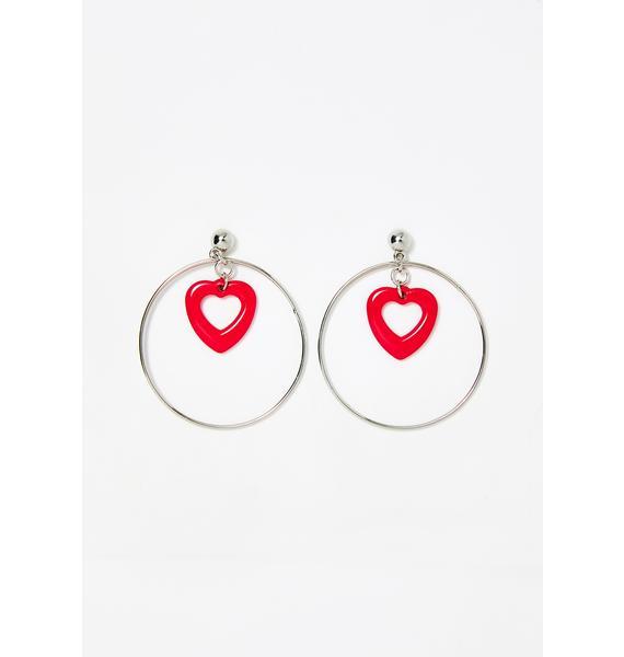 Pure Adoration Heart Earrings