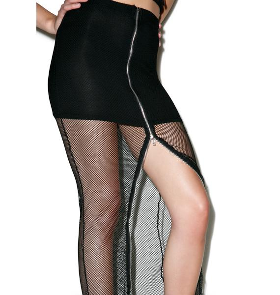 Lip Service Fishnet Maxi Skirt