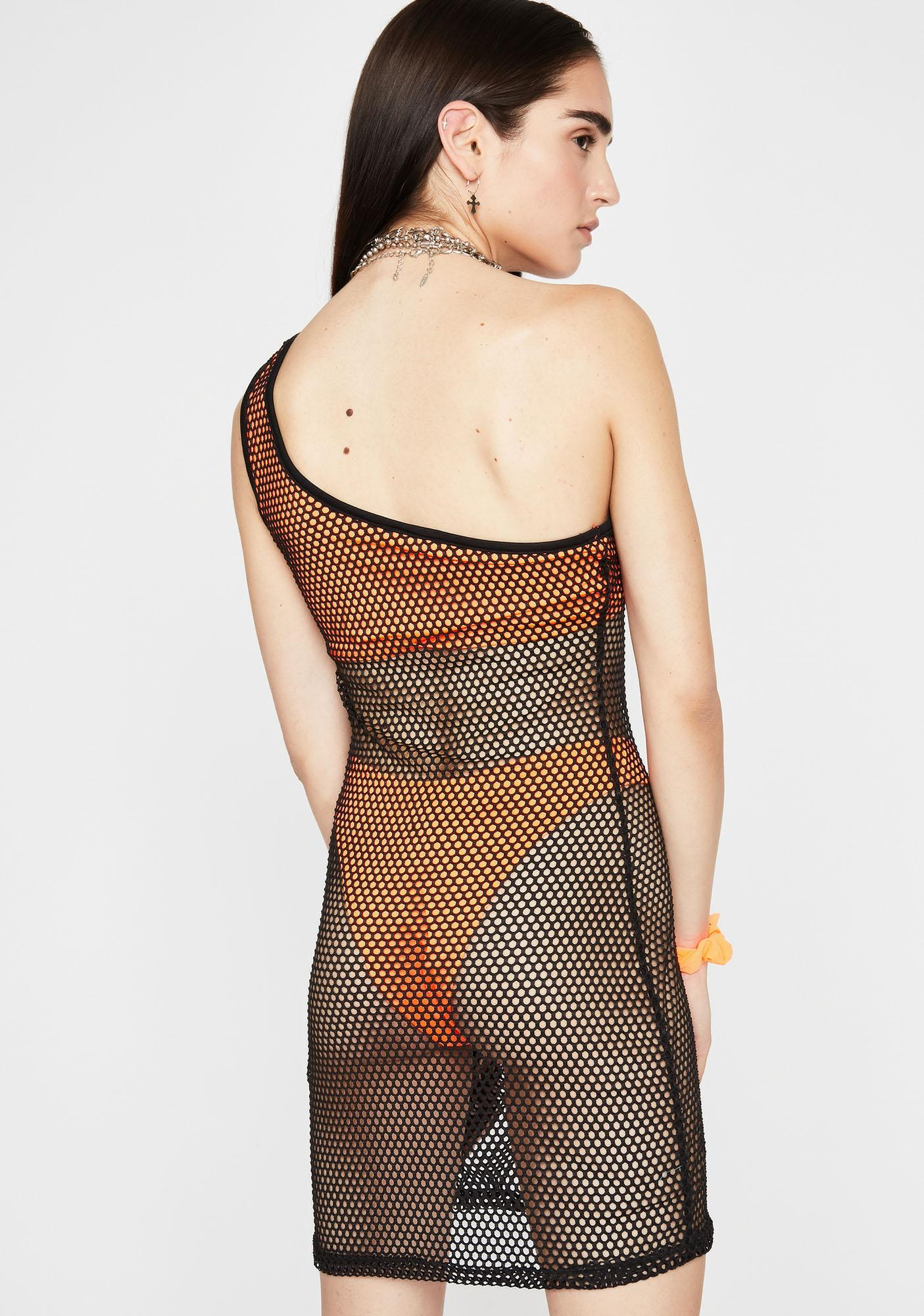 Juicy Viral Vibez Fishnet Dress