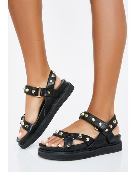 Miss Gladiator Studded Sandals