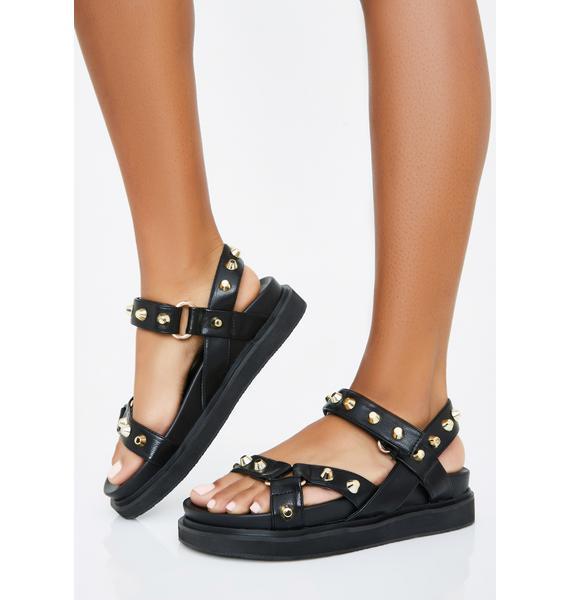 Miss Gladiator Studded Sandals
