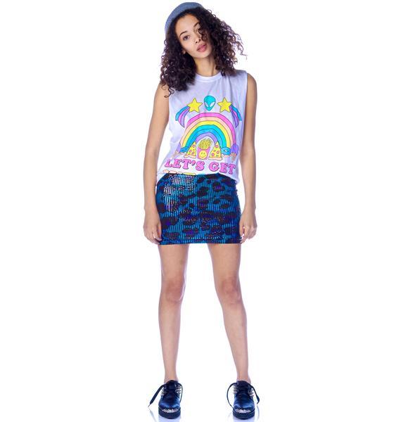 Iron Fist Water Cat Mini Skirt