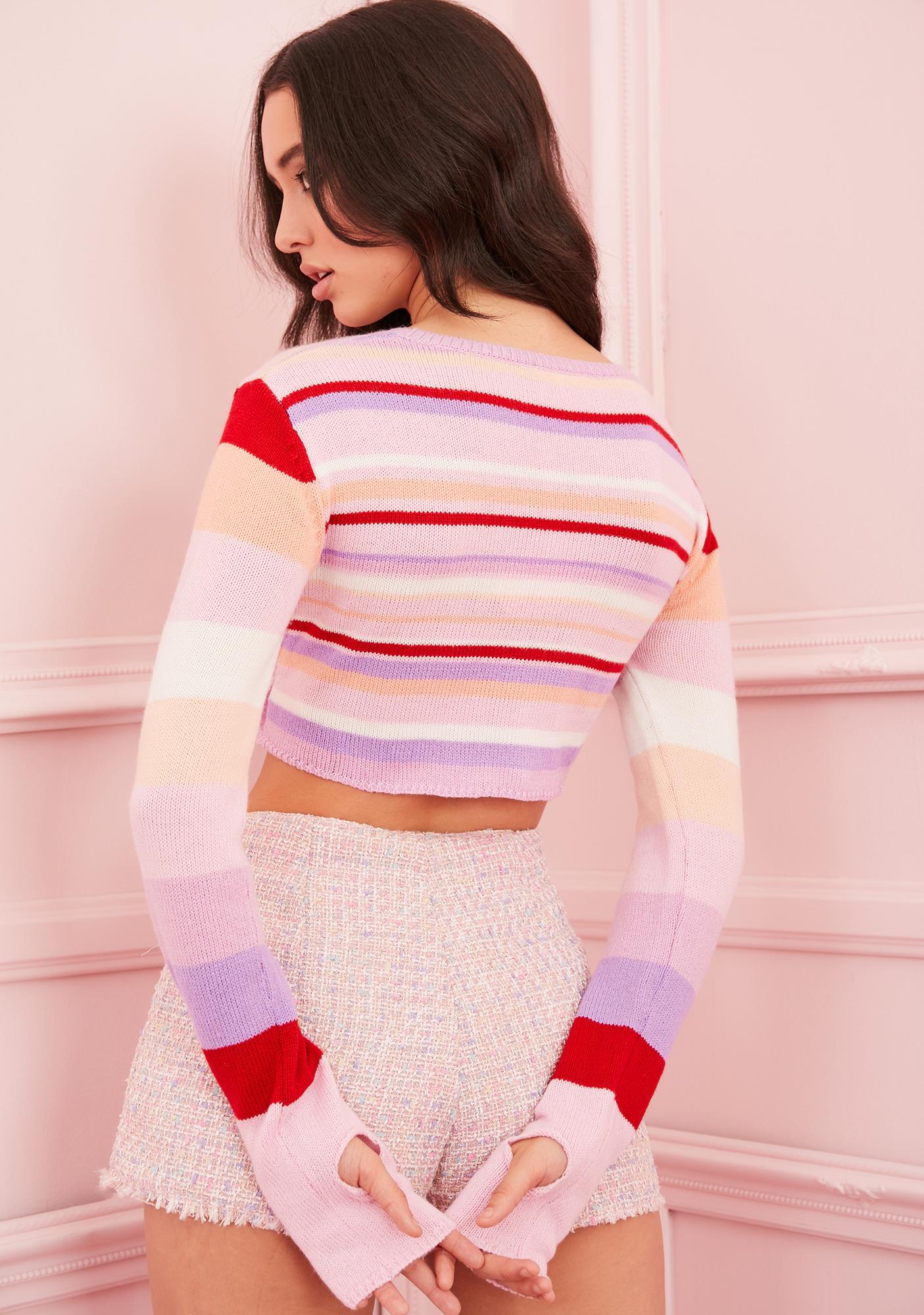 Sugar Thrillz Sadie Hawkins Striped Sweater
