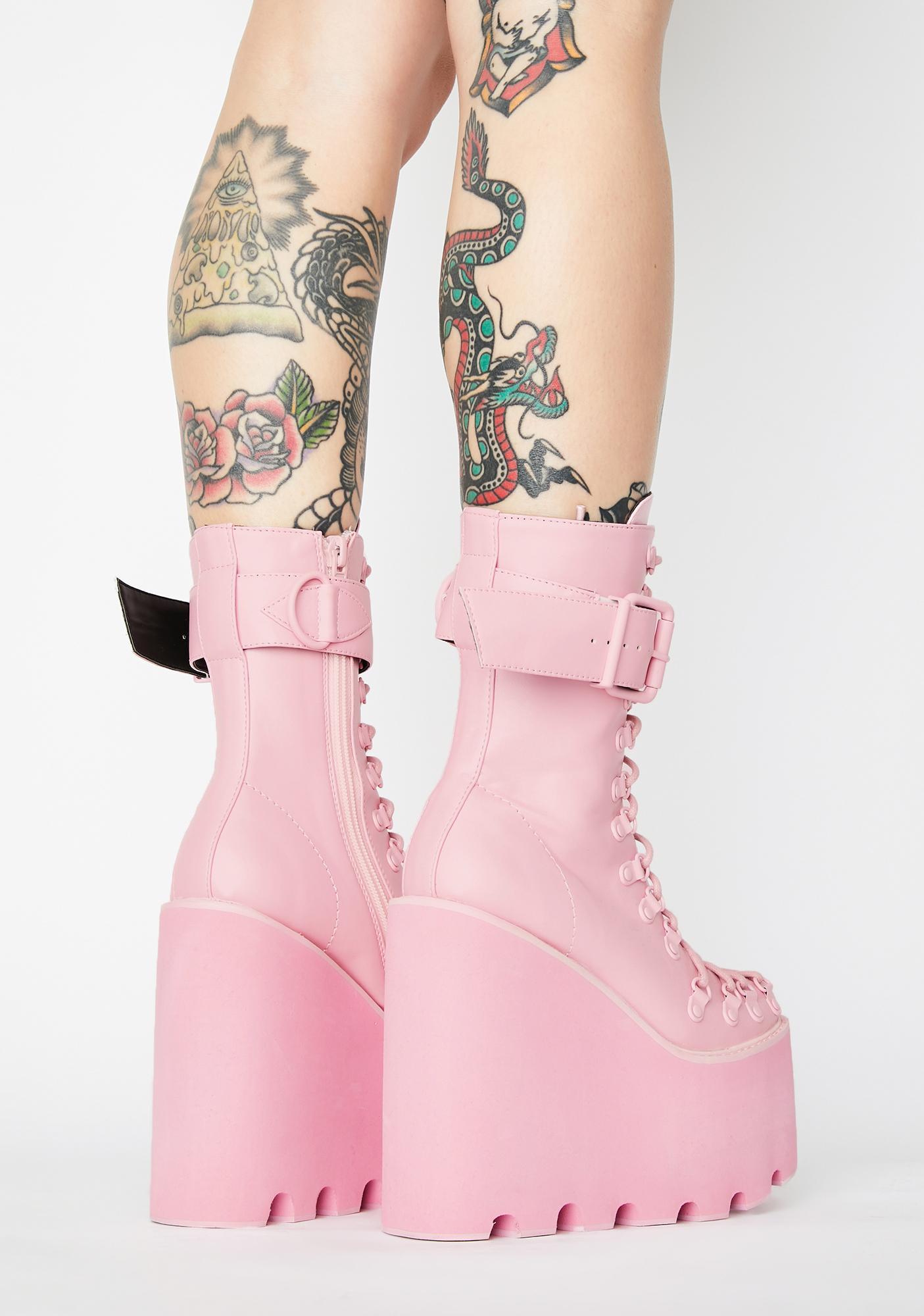 Sugar Thrillz Bubblegum Traitor Boots