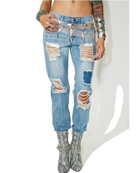 Chazz Distressed Denim Jeans