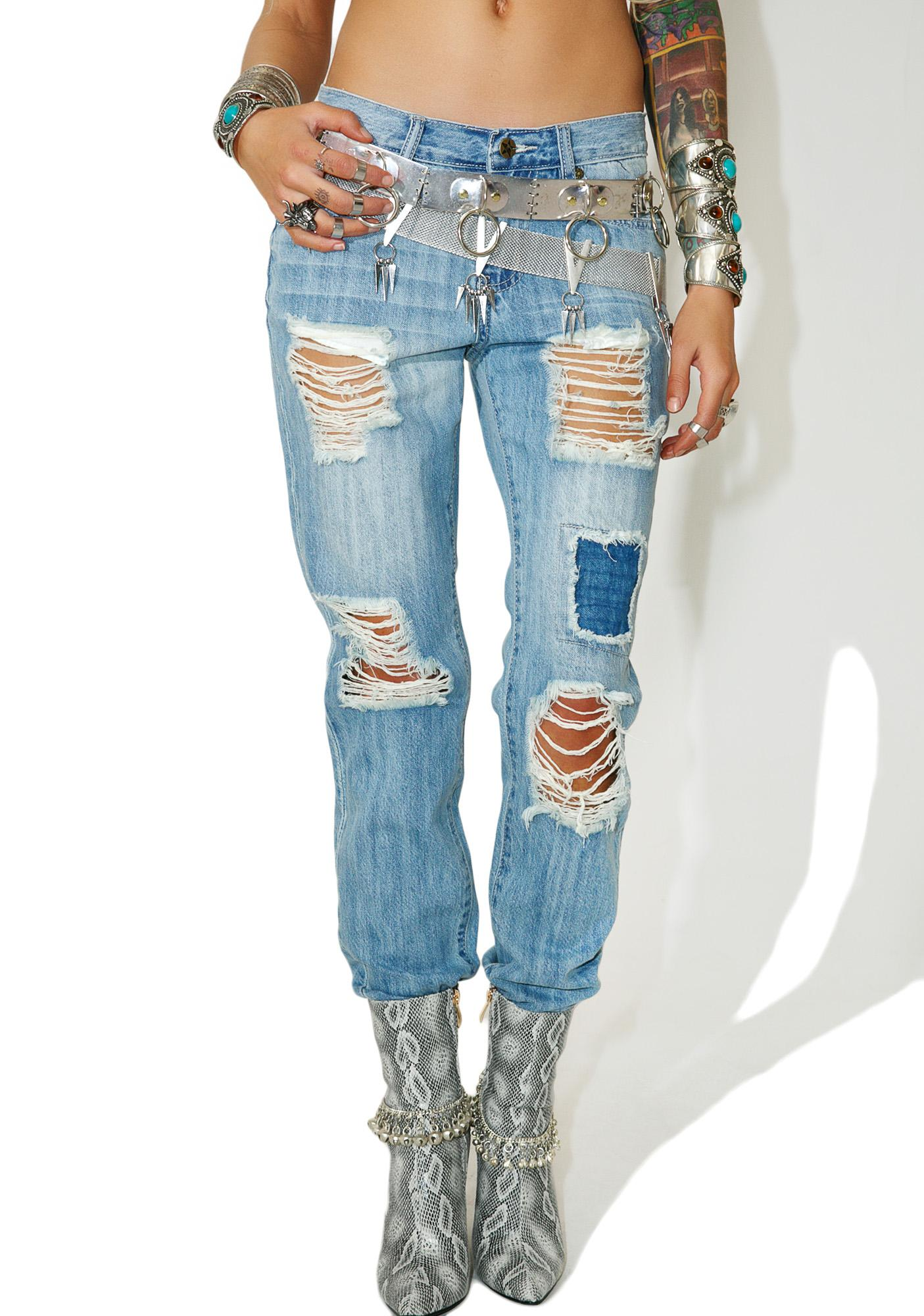 Chazz Distressed Denim Jeans