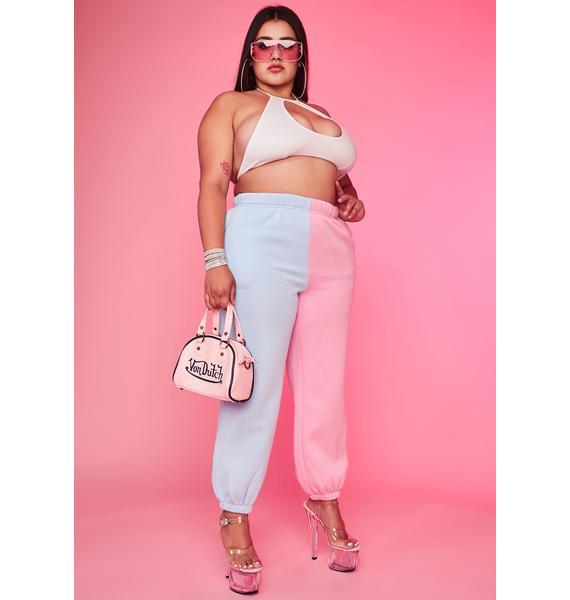 Cotton Candy Luxe Slacker Squad Two Tone Sweatpants
