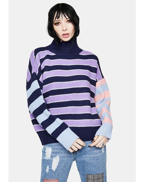 Pass The Punch Multi Stripe Sweater