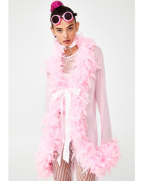 Sweet No Presha Feather Robe