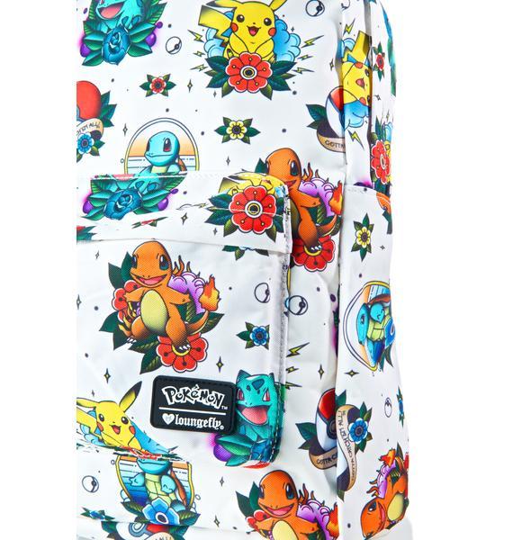 Loungefly X Pokemon Tattoo Backpack