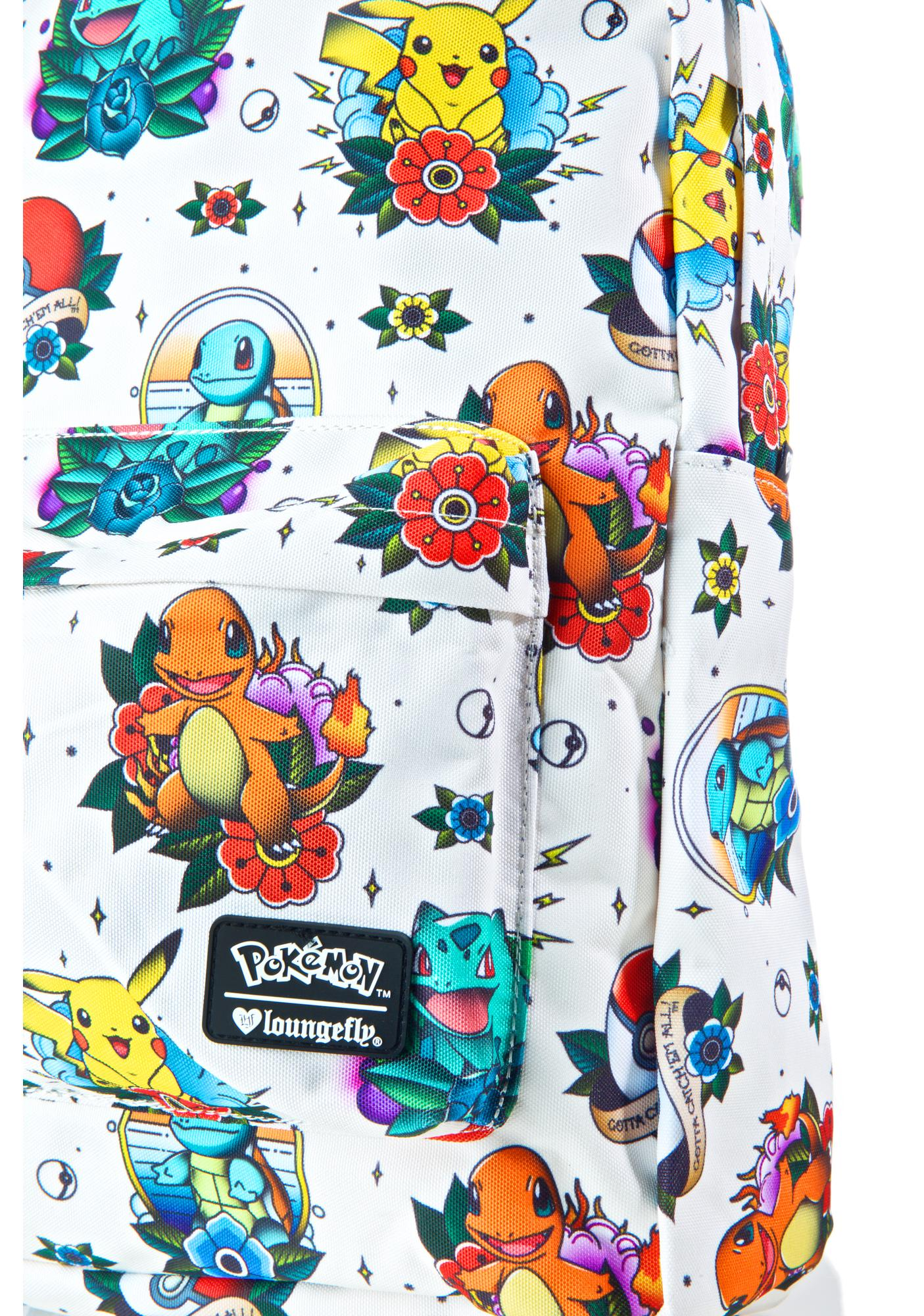 Loungefly X Pokemon Tattoo Backpack