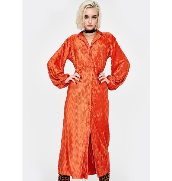 Glamorous Rust Maxi Shirt Dress