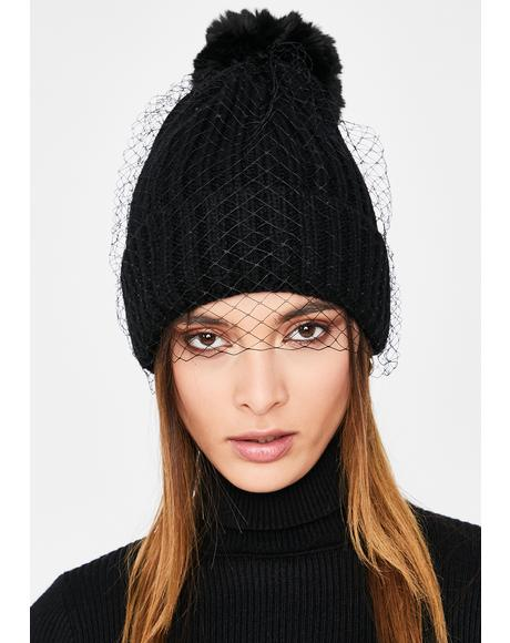 Sad For What Fishnet Beanie