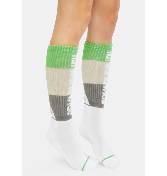 HUF White Peak Stripe Socks