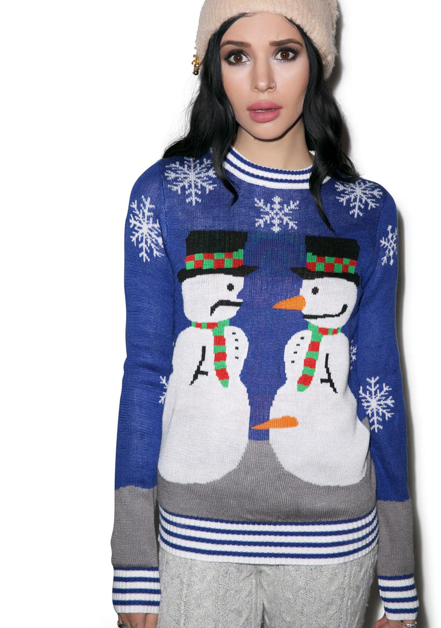Tipsy Elves Frosty the Nose Thief Sweater