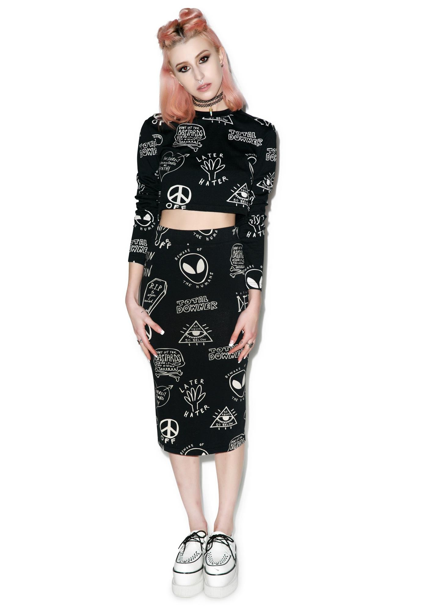 Disturbia Downer Crop Top