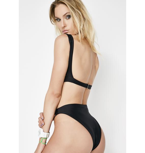 Lee + Lani Midnight Offshore Bikini Bottoms