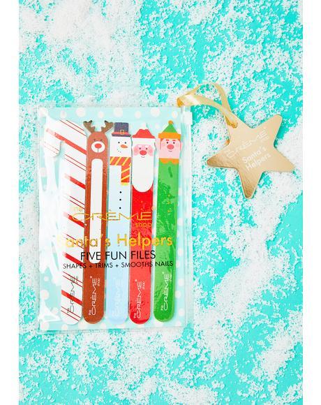Holiday Nail File 5 Piece Gift Set