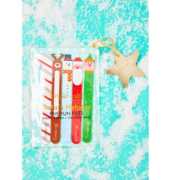 The Crème Shop Holiday Nail File 5 Piece Gift Set