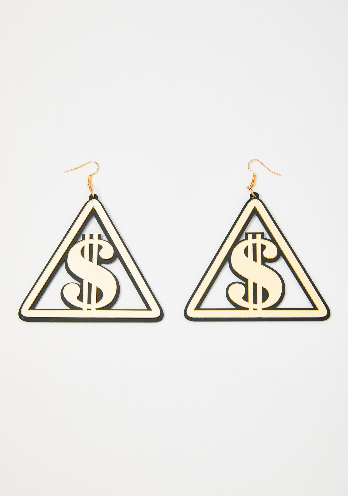 Lottery Livin' Acrylic Earrings