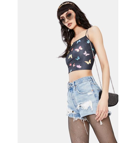 Butterfly Stages Cropped Top