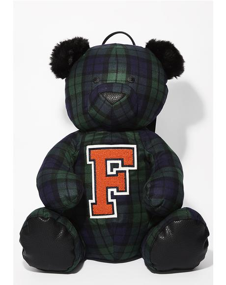 FENTY PUMA BY Rihanna Plaid Mascot Bear Backpack