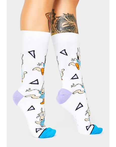 Rocko's Crew Socks
