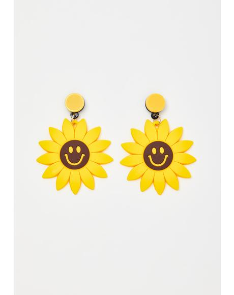 I'm Happy Sunflower Earrings
