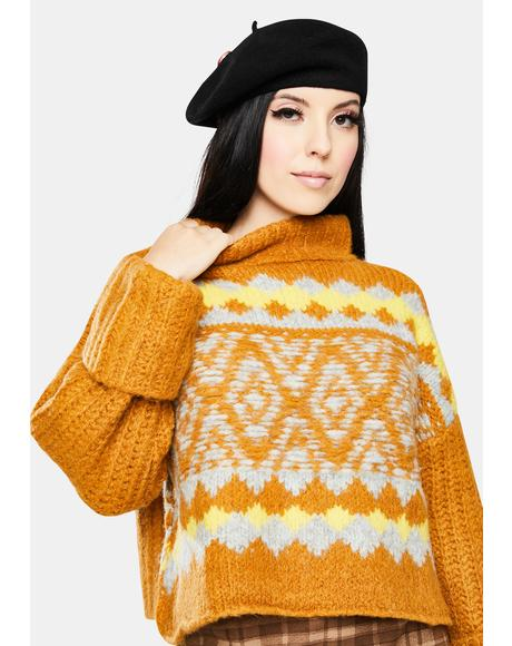 Cinnamon Toast Alpine Pullover Sweater