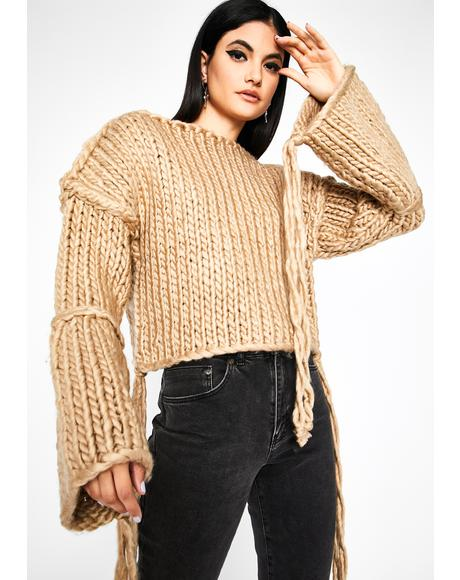 Pumpkin Spice Vibez Chunky Knit Sweater