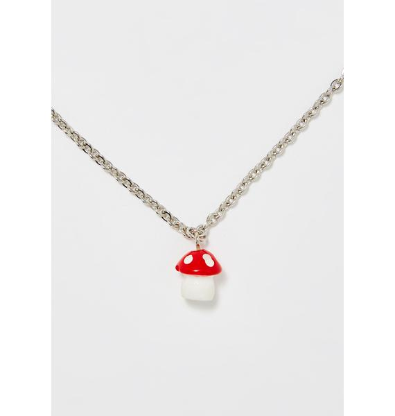 Mushroom Wonderland Chain Necklace