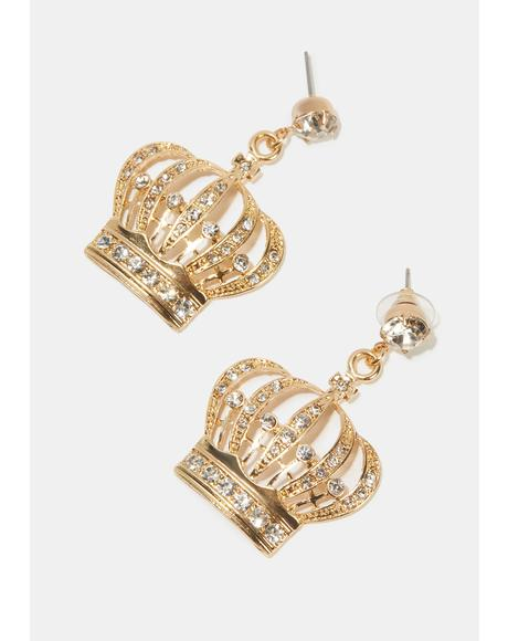 Under My Reign Crown Earrings