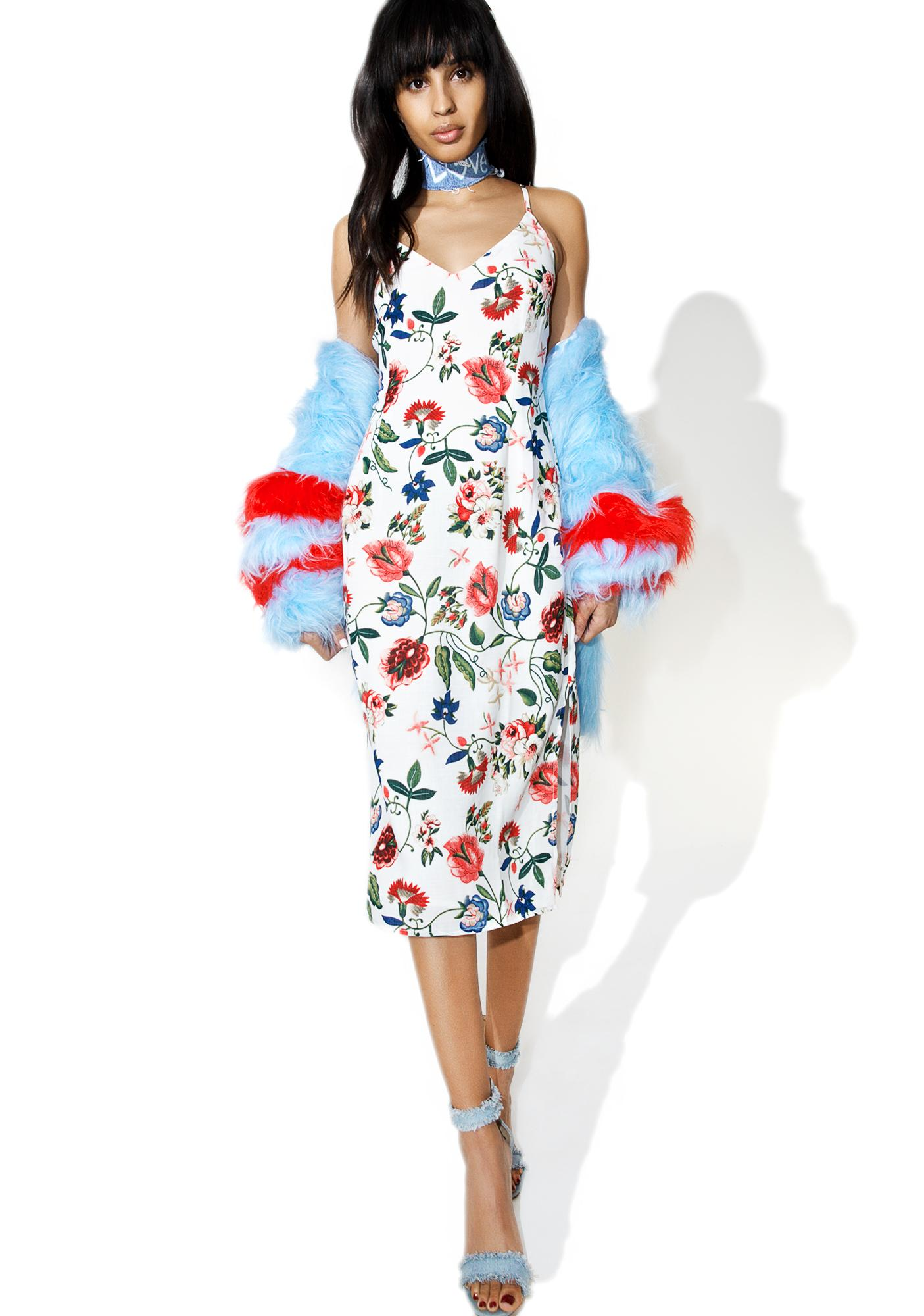 Norma Jean Floral Midi Dress