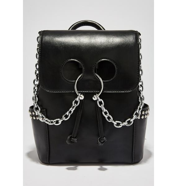 Current Mood Vile Thoughts Pierced Backpack