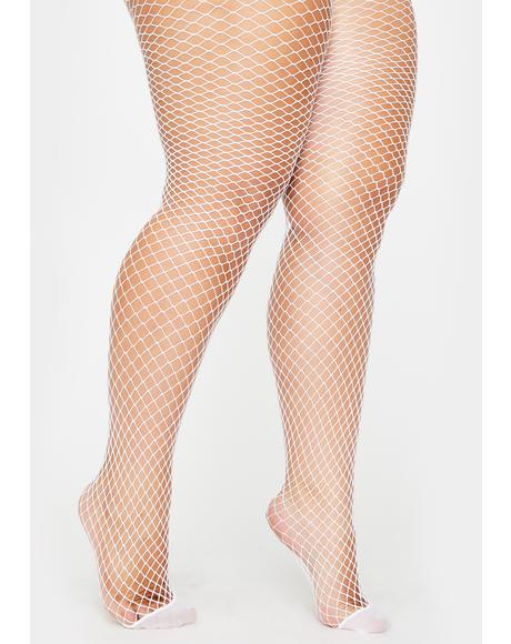 Holy Her Bold Move Fishnet Tights