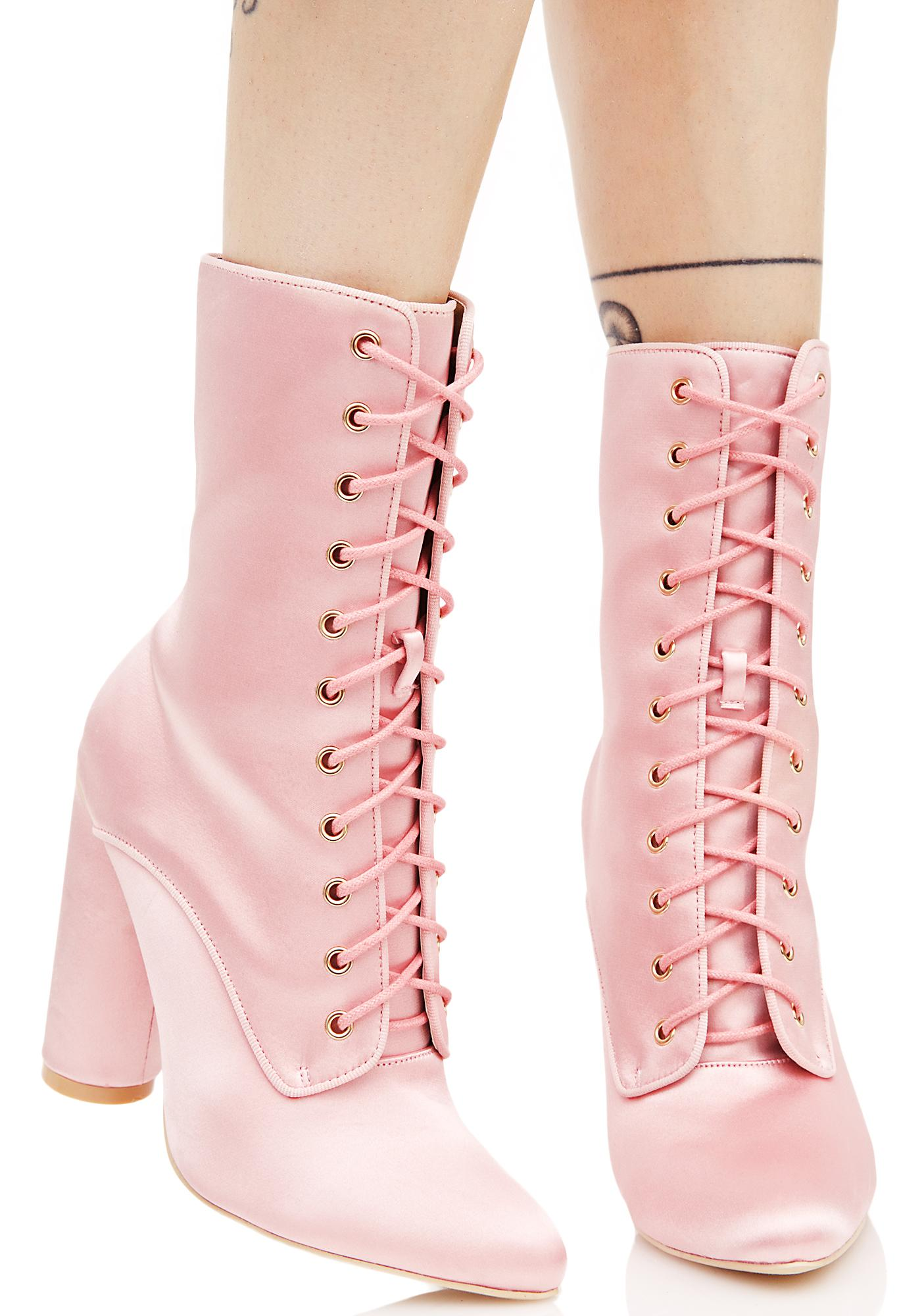 So Posh Lace-Up Boots