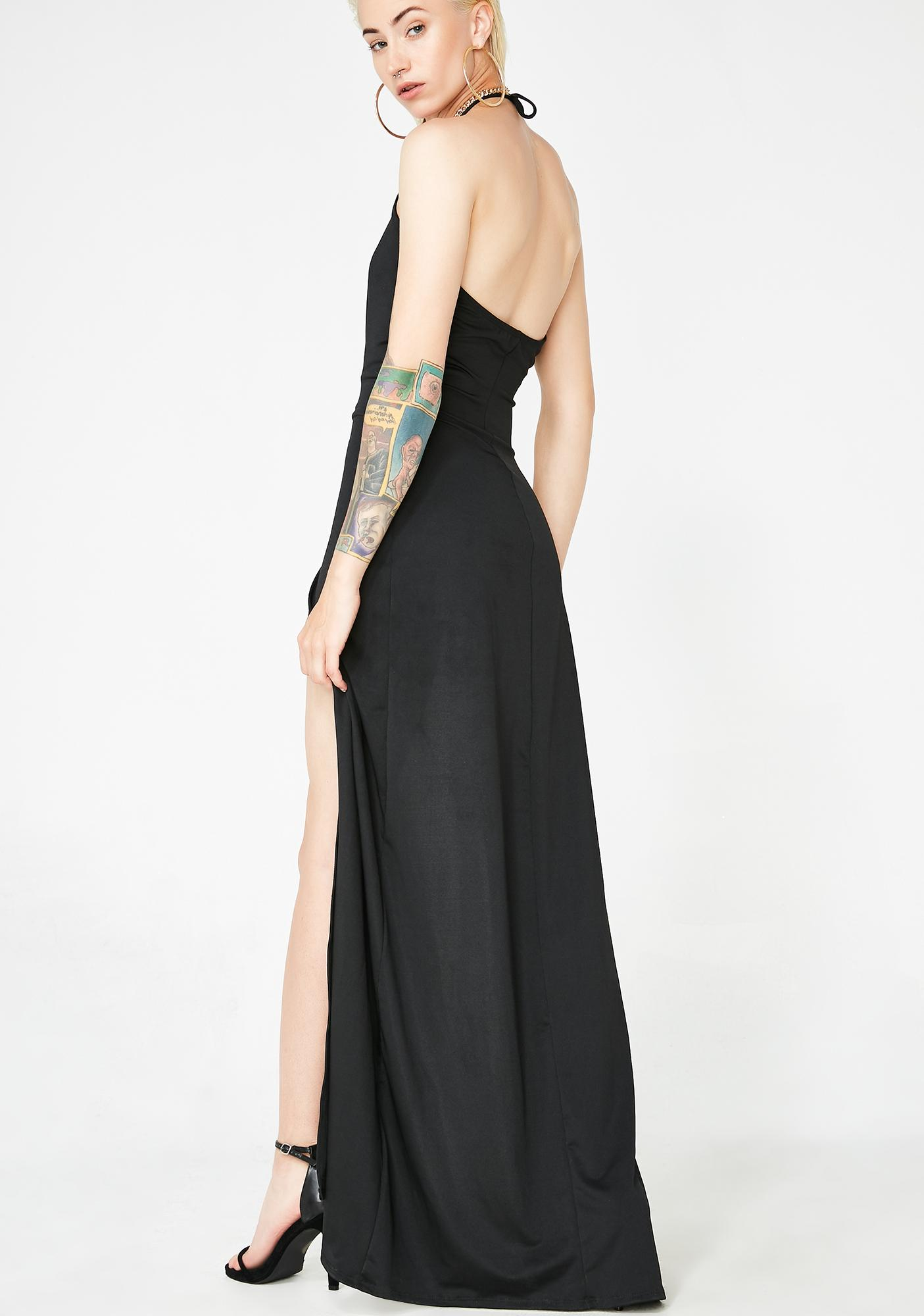 Shmoney Bags Halter Dress