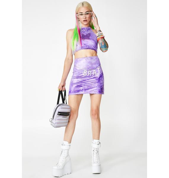 Rheabfunky Lavender Slit Skirt