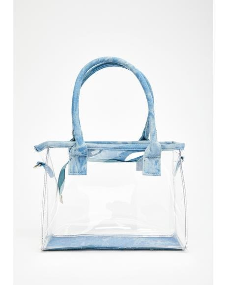 Clear The Way Denim Trim Bag
