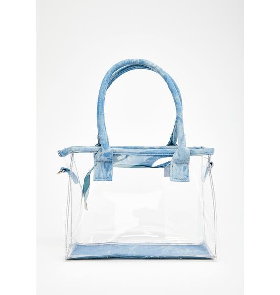 Clear The Way Denim Trim Bag